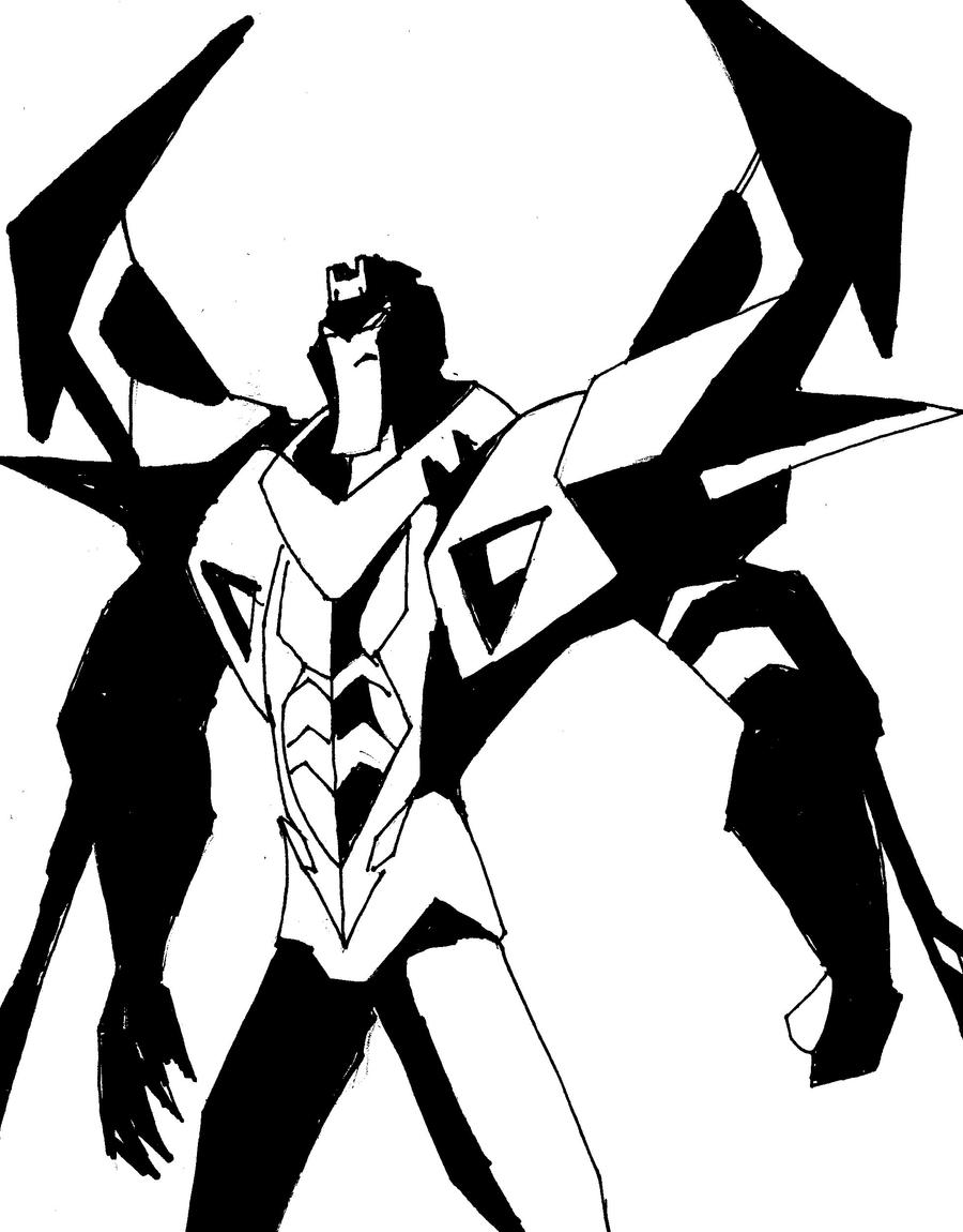 Pre earth animated starscream by hulkling on deviantart for Starscream coloring page