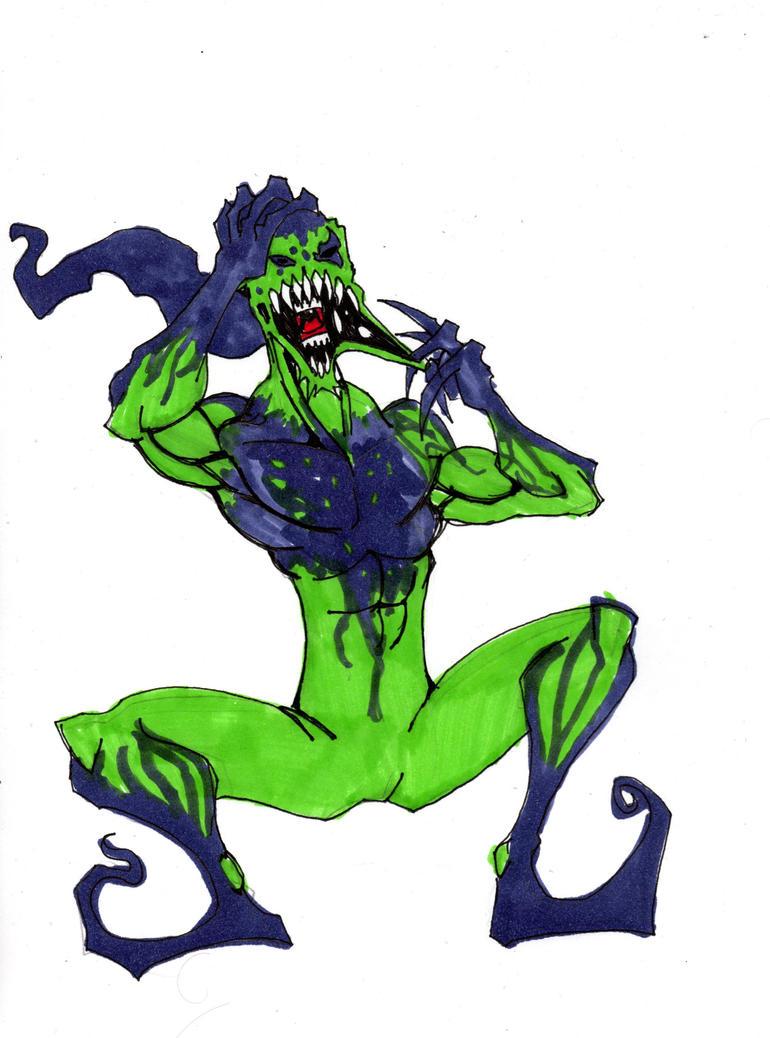 symbiote green goblin by hulkling