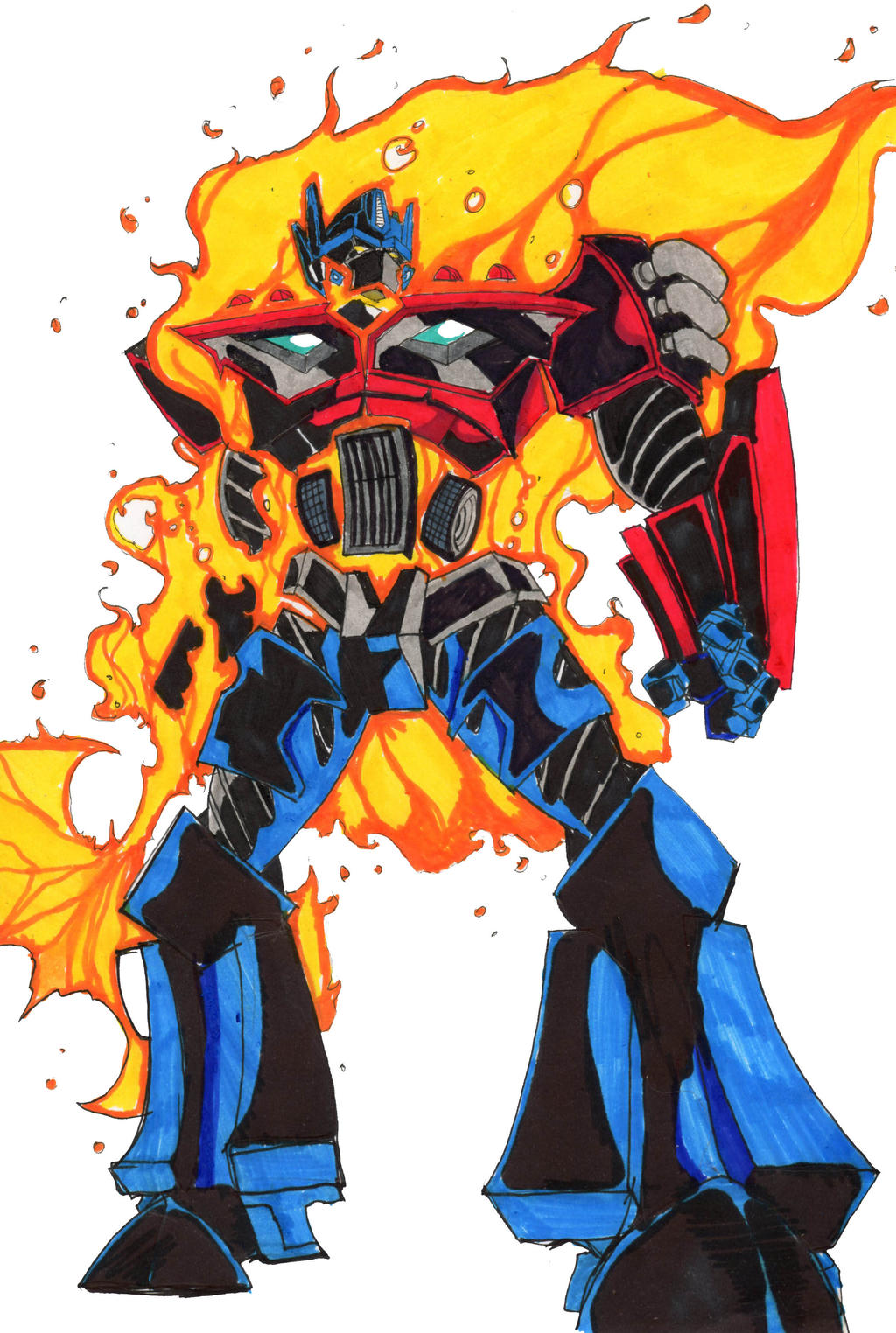 tengen toppa optimus prime by hulkling