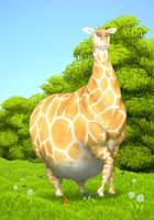 Obese giraffe by Soobel
