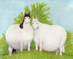 Faliine and Eliise by Soobel
