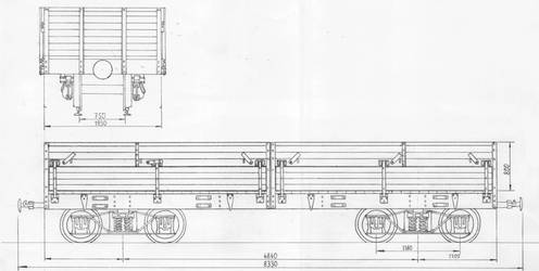 20ton gondola car