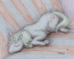 Cutie on sofa by Soobel