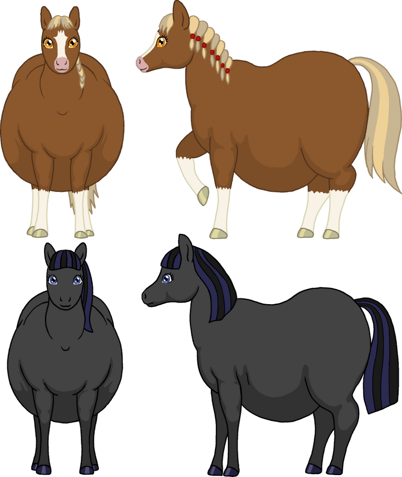 Fat horse characters by Soobel