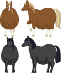 Fat horse characters