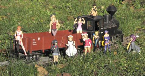 Train and girls