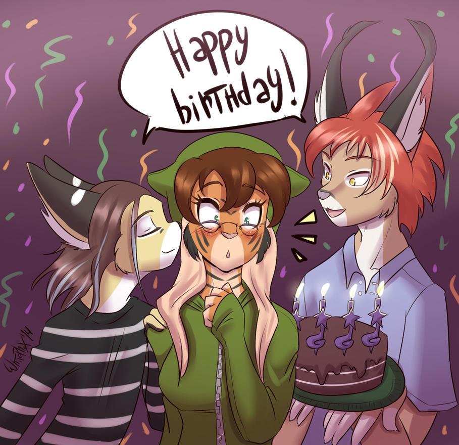 Daina's birthday by WhitePhox
