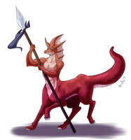 Monster Rancher - Dragoon (centaur) by WhitePhox
