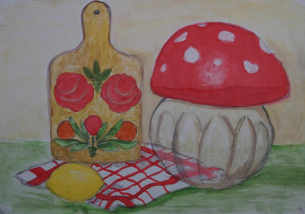 Mushroom Jar by AliceRitter