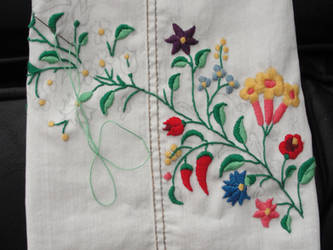 Kalocsai Embroidery WIP by LiviaZita