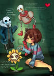 Playing with Flowey