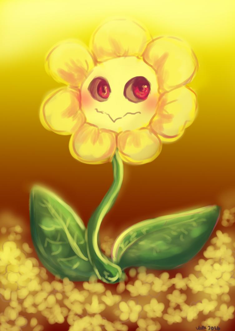 Flowey the Flower by cuteVeila on DeviantArt