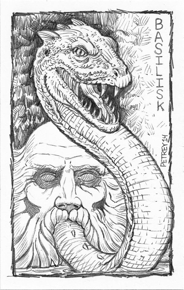 Harry Potter - Basilisk - Sketch - ACEO by WillPetrey on ...