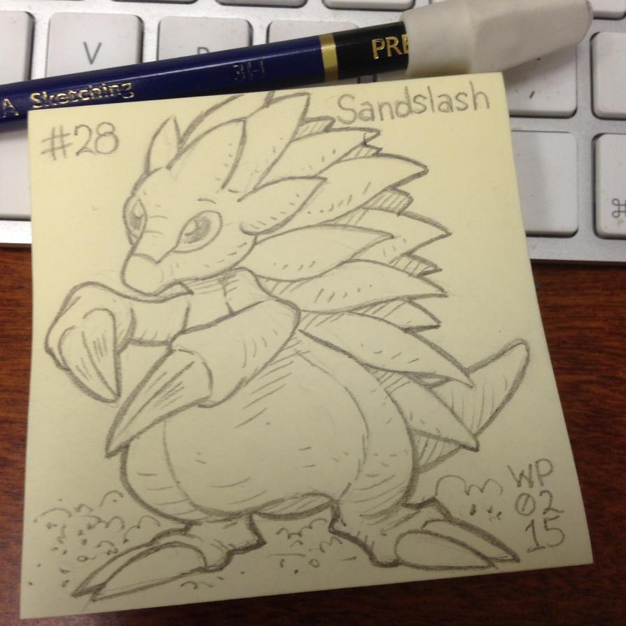 Post-It Note Pokemon #028 Sandslash by WillPetrey