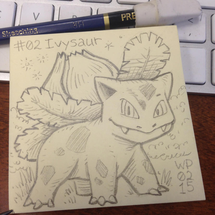 Post-It Note Pokemon #002 Ivysaur by WillPetrey