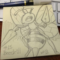 Post-It Note Pokemon #015 Beedrill by WillPetrey