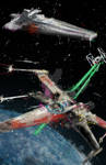 X-wing Dog Fight