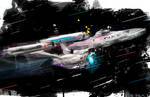 Enterprise from Wrath of Khann