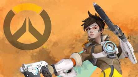 Tracer Wallpaper by j2Artist
