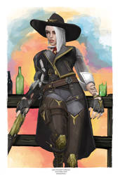 Ashe - Overwatch by j2Artist