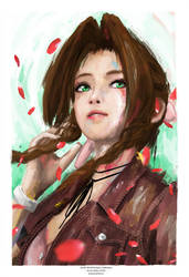 Aerith from Final Fantasy VII by j2Artist