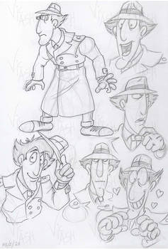 Inspector Gadget character sketches