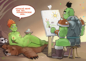 Orcs and painting by kola411