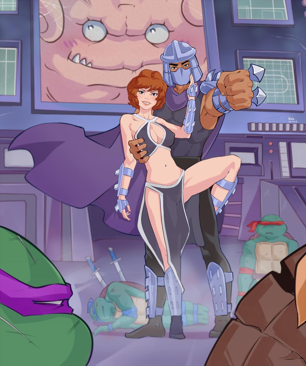 Commission: mister and missis Shredder by kola411