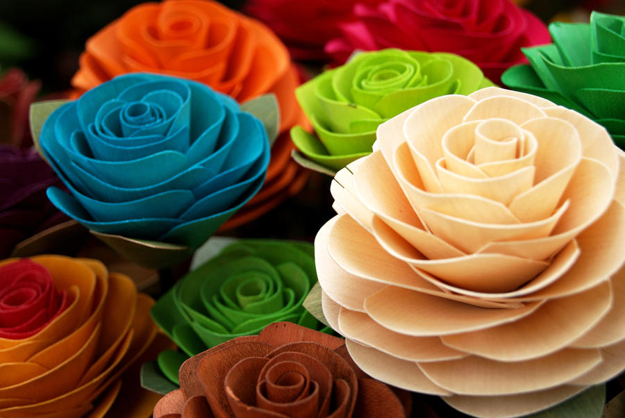 wooden flowers by real24c41 d2xr3em Wooden Flowers