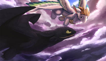 HTTYD - Toothless and Flammie