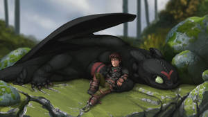 Hiccup and Toothless: After the Race