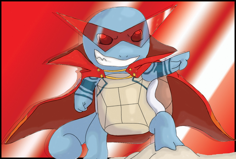 Kamina squirtle by shinyscyther on DeviantArt