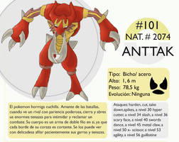 Pokemon Oryu 101 Anttak by shinyscyther