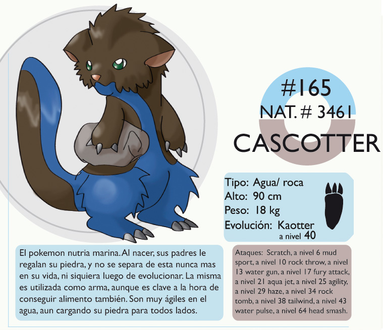Pokemon Oryu 165 Cascotter by shinyscyther