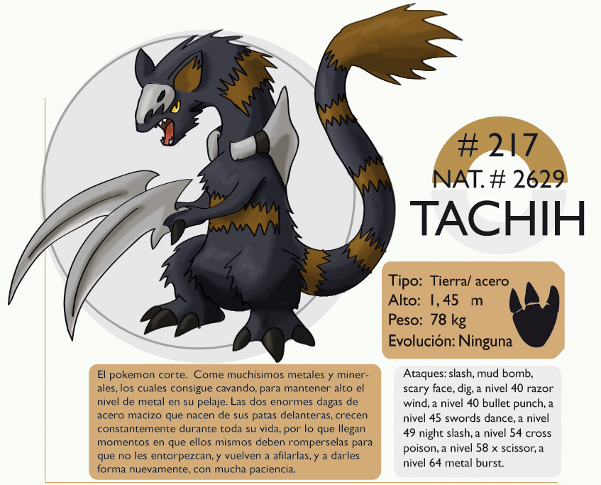 Pokemon Oryu 217 Tachih by shinyscyther