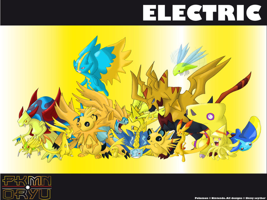 All Electric Type Pokemon Oryu Wall Electric Type