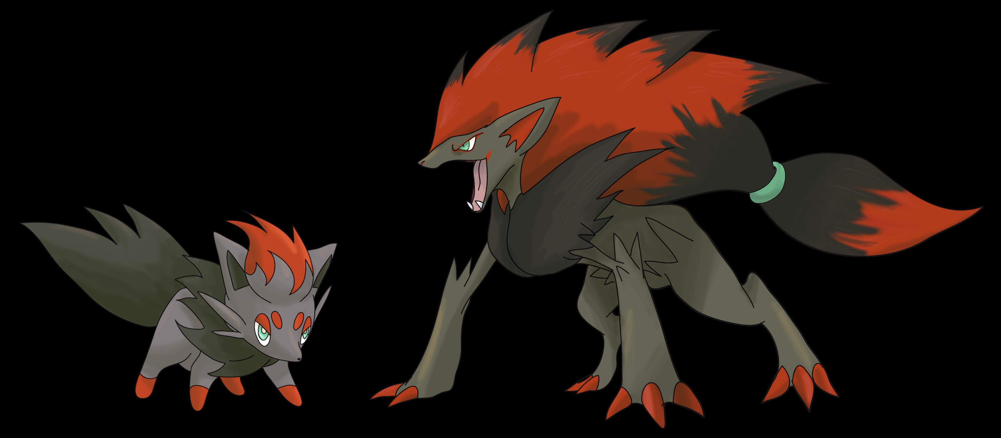 Hd Wallpapers Zoroark And Zorua