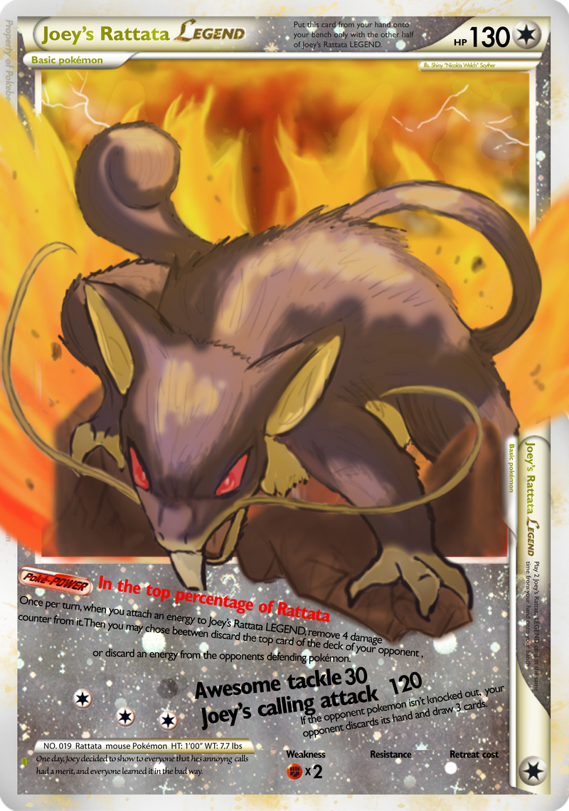 Joey's Rattata Legends Card