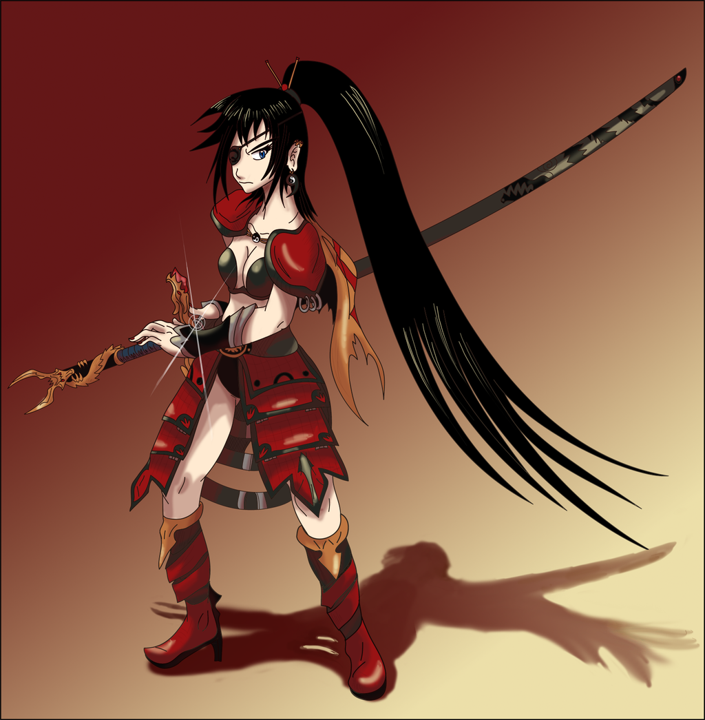 Fez samurai female warrior by shinyscyther on deviantart - Anime female warrior ...