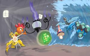 triple battle by shinyscyther