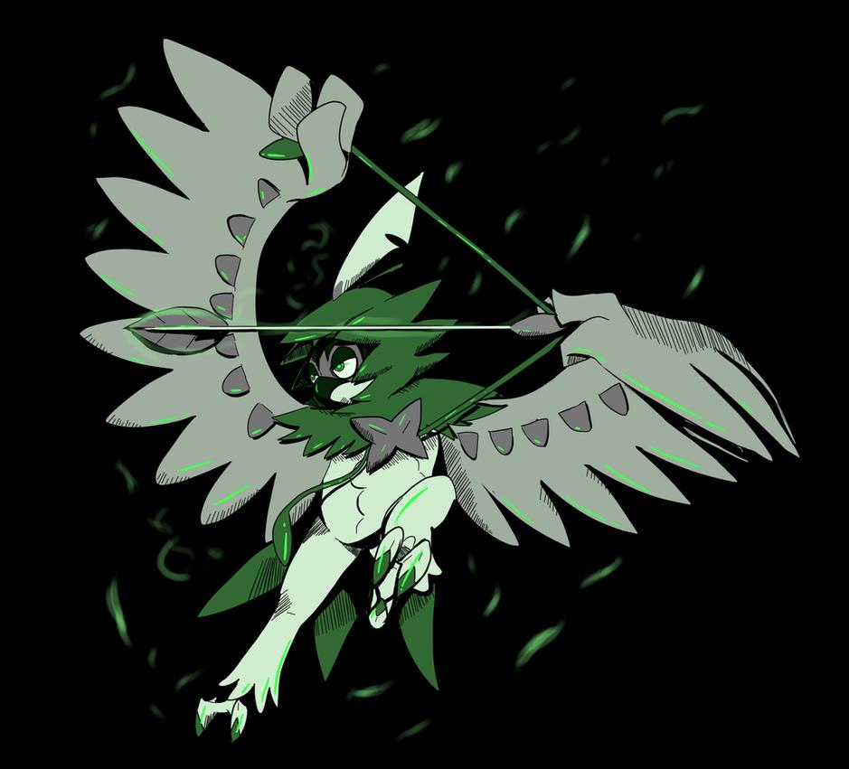Shadow Decidueye by shinyscyther