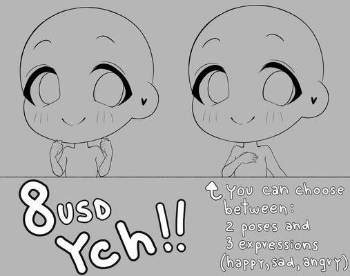 [OPEN] YCH CHIBI only 8$!!!