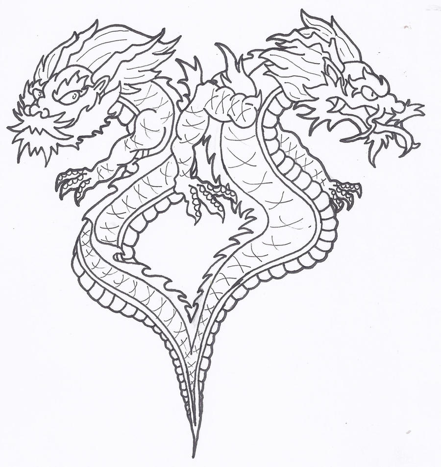 Siamese dragons of good n evil by d3sc3nd3d on3 on deviantart for The girl with the dragon tattoo common sense media