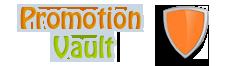 Promotion vault logo by Super-Studio