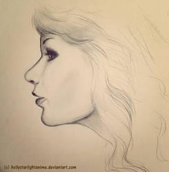 Self Portrait Sketch by hollystarlightanime