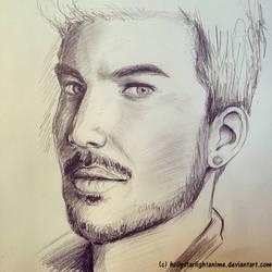 Adam Lambert Sketch by hollystarlightanime