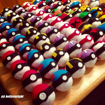 Original Pokemon POKEBALL Custom Plush Toy by hollystarlightanime