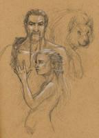 Game of Thrones Sketches 3 by lilwassu