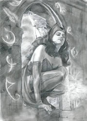 Scarlet Witch Sketch