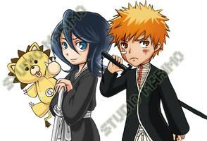 Kon, Rukia and Ichigo by studiomarimo